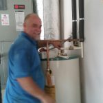 Mike is happy to fix your water heater.